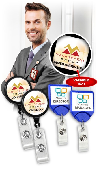 Product Spotlight Custom Badge Reels With Variable Text